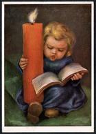 C0583 - M. Spötl Künstlerkarte - Angel Engel Mit Kerze - Solo - Weihnachten