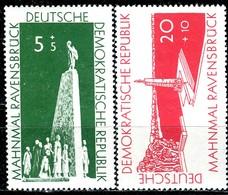 DDR - Mi 566 / 567 - ** Postfrisch (A) - 5+5-20+10Pf  Aufbau Nationaler Gedenkstätten - [6] République Démocratique