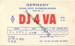 QSL - Funkkarte - DJ4VA - 87600 Kaufbeuren - 1959 - Amateurfunk