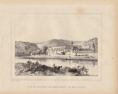 Gravure Ancienne Château De Belgique De Waulsort M De Halloy - Documents Historiques