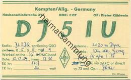 QSL - Funkkarte - DJ5IU - 87600 Kaufbeuren - 1959 - Amateurfunk