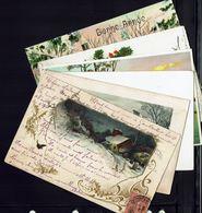 FR - Petit Lot De Six Cartes Noêl - Jour De L'An - Bon état - B/TB - - Cartes Postales