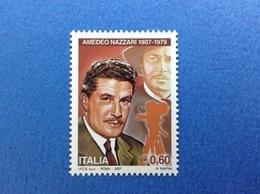 2007 ITALIA FRANCOBOLLO NUOVO STAMP NEW MNH** - CINEMA ATTORE AMEDEO NAZZARI - 6. 1946-.. Repubblica