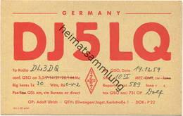 QSL - Funkkarte - DJ5LQ - 73479 Ellwangen / Jagst - 1959 - Amateurfunk