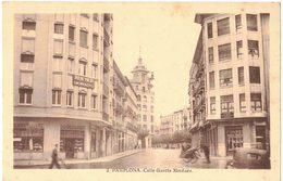 ESPAGNE NAVARRA PAMPLONA : Calle Garcia Ximenez - Charrette à Bras En Bois - Magasin Droguerie - Navarra (Pamplona)