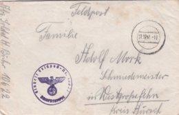 German Feldpost WW2: From POW Guard In Daugavpils, Latvia - Stalag 340 FP 10622 P/m  7.12.1941 - Letter Inside - Militaria