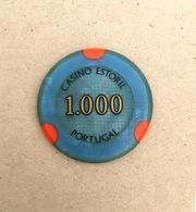 Original Chip CASINO Do ESTORIL Jeton Token 1000$ Escudos Vintage Coin 43mm PORTUGAL - Casino