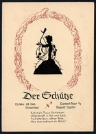 C0607 - TOP Scherenschnitt - Tierkreiszeichen Schütze - Engel Angel Elfen - Verlag August Gunkel - Scherenschnitt - Silhouette