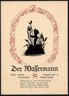 C0609 - Scherenschnitt - Tierkreiszeichen Wassermann - Engel Angel Elfen - Verlag August Gunkel - Silhouettes