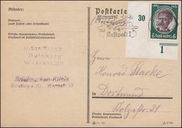 541 Kolonialgedenkfeier Als Ecke Unten Links Als EF Postkarte DUISBURG 7.8.1934 - Germany
