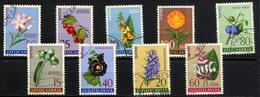 YOUGOSLAVIE JUGOSLAVIA 1961, Yvert 843/51, FLORE MEDICINALE, 9 Valeurs, Oblitérés / Used. R033 - Heilpflanzen