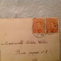 JFC. 360. Double Oblitérations. Oeudeghien 1919. Sur CP Bonne Et Heureuse Année - Fortune Cancels (1919)
