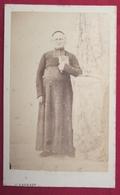 Ancienne Photo Cdv Albumine Abbé Aubert Curé De St Rémi De REIMS 1870 - Photographie Baudart, Reims - Photographs