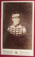 Ancienne Photo Cdv Saumur Militaire Uniforme - Photographie Artistique Victor Coué Vers 1880 - Photographs