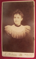 Ancienne Photo Cdv Rouen - Femme Dentelle - Vers 1880 - Photographie J. Fontaine, Rouen - Anciennes (Av. 1900)
