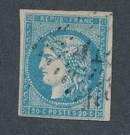 CI-19: FRANCE: Lot Avec N°44A (pt Pelurage Et Mini Trou D'épingle) Beau D'aspect - 1870 Bordeaux Printing