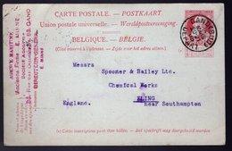 Carte Postale 35  -  Oblitération GAND SUD - Entiers Postaux