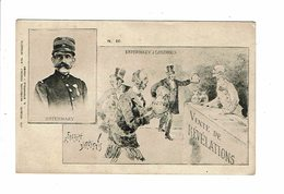 Cpa Carte Politique Satirique AFFAIRE DREYFUS Esterhazy  à Londres - Sternfeld 10 - Satiriques