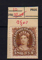 1864-69   Prince Edouard Island, Queen Victoria,10 Sans Colle,  No Glue, Cote 80 €, - Prince Edward (Island)