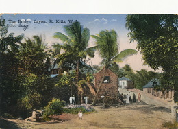St Kitts The Bridge , Cayon W.I.  Edite Moure Losada Basseterre To Schaffen Belgium De Onate 1942 - Saint-Christophe-et-Niévès
