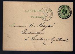 Carte Postale 17  -  Oblitération LIÈGE GUILLEMINS Du 6 Septembre 1884 - Entiers Postaux