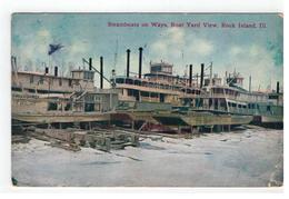 Rock Island, ILL.Steamboats On Ways,Boat Yard View  1912 - Etats-Unis