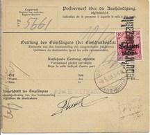 Pakketkaart Met Nr 20 En Verso 14 Van 4.9.18 Van VERVIERS Naar Brussel 2 - Guerre 14-18