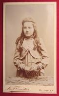 Ancienne Photo Cdv 74 Haute Savoie RUMILLY Jeune Fille Nommée Nathalie Girod - Photographie Exertier - Anciennes (Av. 1900)