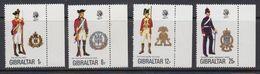 Gibraltar 1976 Uniforms 4v (+margin) ** Mnh (41505) - Gibraltar