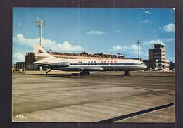 CPSM 31 - TOULOUSE - Aéroport De TOULOUSE BLAGNAC - La Piste - TB GROS PLAN AVION CARAVELLE AIR INTER 1976 - Aérodromes
