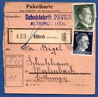 Colis Postal  -   Départ Altkirch - 27/9/1943 - Alemania