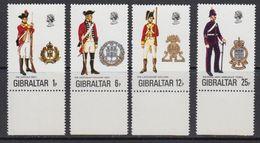 Gibraltar 1976 Uniforms 4v (+margin) ** Mnh (41505A) - Gibraltar