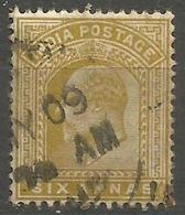 India - 1903 King Edward VII 6a Bister-brown Used    SG 132  Sc 67 - India (...-1947)