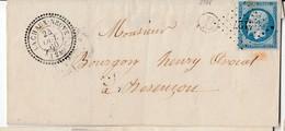 """N° 14/ L.(.) PC 4127 De LA CHAUX-NEUVE / 20.10.60->Besancon + Boite Rurale """"  B"""" Par Cad Au Verso ; CHAMPAGNOLO    ( Pot - Marcophilie (Lettres)"""