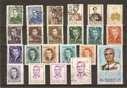 Iran 1958/71 - Shah - Petit Lot De 22 Timbres ° - Iran