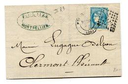 France - N°45C (Type II Report 3) Sur Lettre - 2 Scans - (B1247) - 1870 Bordeaux Printing