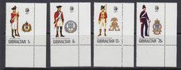 Gibraltar 1976 Uniforms 4v (corners) ** Mnh (41505E) - Gibraltar