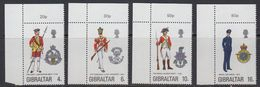 Gibraltar 1974 Uniforms 4v (corners) ** Mnh (41505F) - Gibraltar