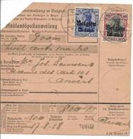 Postwissel Met Nr 18 En 20 En Verso 14 Van 17.8.18 Van Tubize-Tweebeek Naar Antwerpen1 - Guerre 14-18