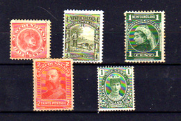 1887   Terre-Neuve, Chien, Victoria, Prince De Galles, Georges V, Entre 39 Et 89 Sans Gomme, Cote 20 €, - Timbres