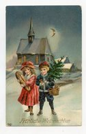JOYEUX NOËL . Enfant Et Sapin De Noël.MERRY CHRISTMAS . Child And Christmas Tree . FROHE WEIHNACHTEN. - Noël