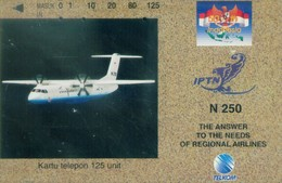 Indonesia Tamura Cards, Plane, IPTN , 125u (1pcs) - Indonesia