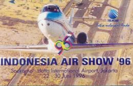 Indonesia Tamura Cards, Plane, Indonesia Air Show '96, 75u (1pcs) - Indonesia