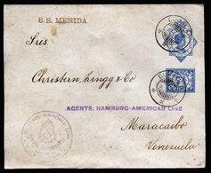 A5765) Curacao Netherlands Ship Letter 8.01.24 To Maracaibo / Venezuela - Curaçao, Antilles Neérlandaises, Aruba