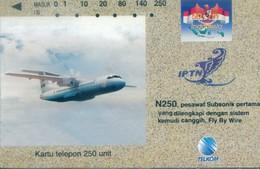 Indonesia Tamura Cards, Plane,IPTN , 250u (1pcs) - Indonesia
