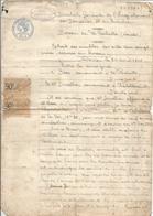 Extrait Des Doubles Des Actes Sous Seings Privés Au Bureau De POITIERS,bureau Des Stés ,la Rochelle ,frais Fr 1.75 E - Programmi