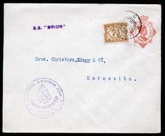 A5767) Curacao Netherlands Ship Letter 12.10.23  To Maracaibo / Venezuela - Curaçao, Antilles Neérlandaises, Aruba