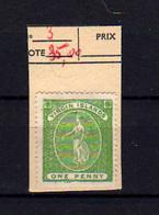 1866   Vierges,  1penny Green Sainte Ursule, Nr.3 Sans  Gomme Cote 90 € - Iles Vièrges Britanniques