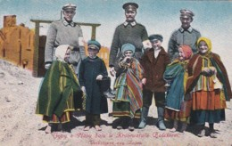 240245Grodek, Volkstypen Aus Polen 1917. Stempel Violet Ortkommandantur Grodek. - Militares