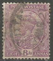 India - 1912 King George V 8a Deep Mauve Used    SG 180  Sc 91 - India (...-1947)